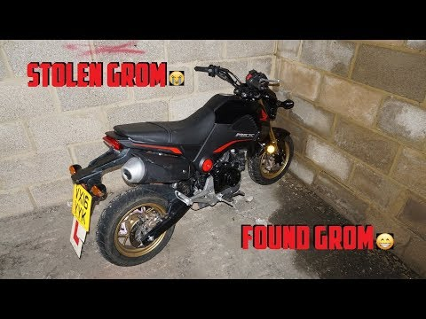 My Honda GROM was STOLEN and FOUND the Same Day - YouTube