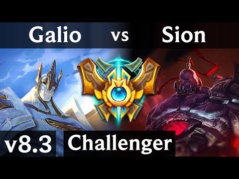 GALIO vs SION (MID) // Korea Challenger // Patch 8.3