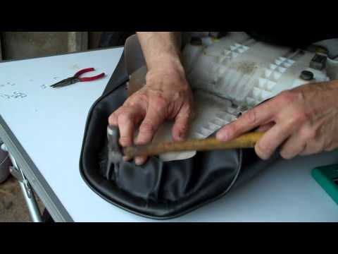 Delboy's Garage Project Bandit, 'How-To' Re-cover a Motorcycle seat.