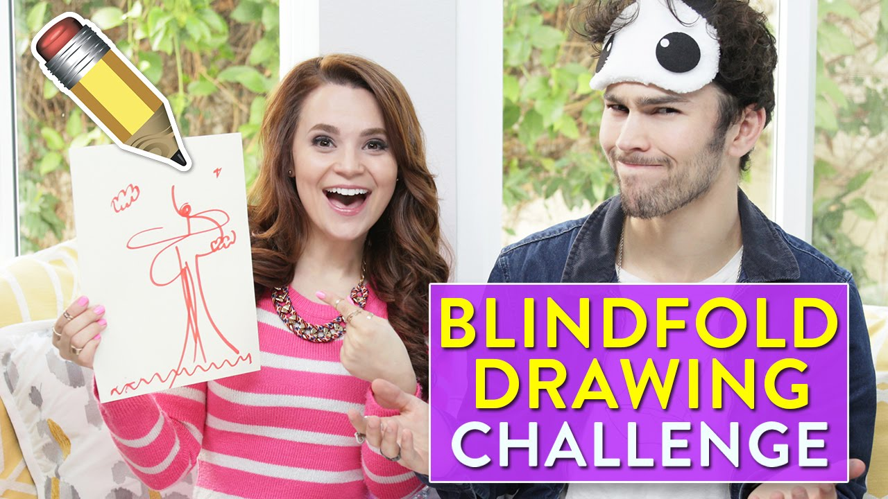 Blindfold Drawing Challenge Ft Max Schneider Youtube