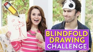 BLINDFOLD DRAWING CHALLENGE! ft Max Schneider