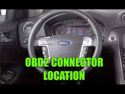 where you can find obd2 connector in ford fiesta focus. Black Bedroom Furniture Sets. Home Design Ideas