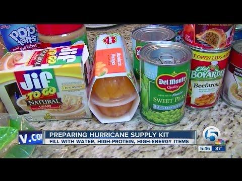 Preparing hurricane supply kit