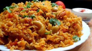 Tomato Pulao Recipe in Pressure Cooker l Tomato Rice l टमाटर पुलाव रेसिपी