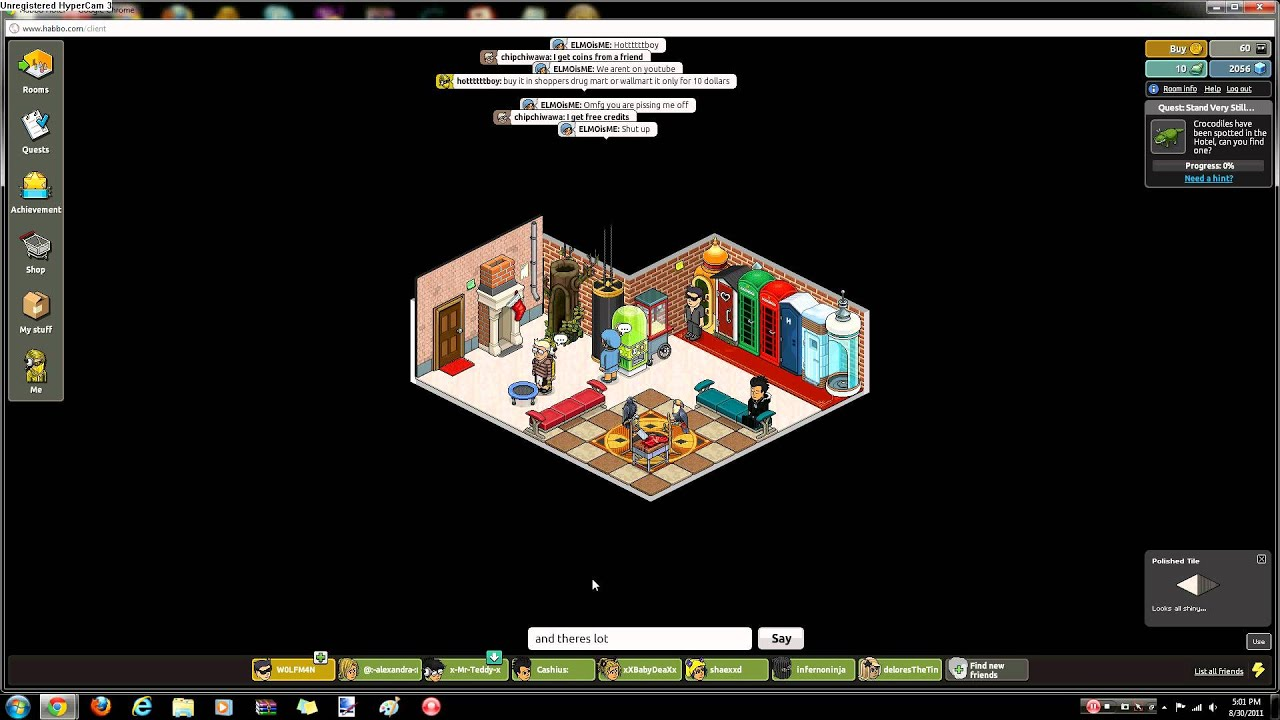 habbo club and vip clothes - YouTube