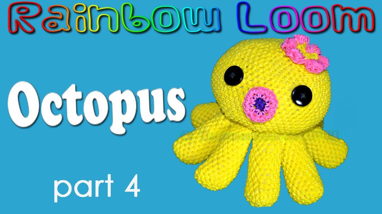 rainbow loom octopus part 4 4 stitching body parts