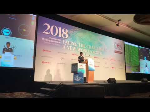 ST Global Outlook Forum 2018: Cyber whizz-kid Reuben Paul doing a live demonstration