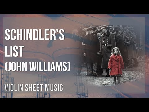 EASY Violin Sheet Music: How to play Schindler's List by John Williams