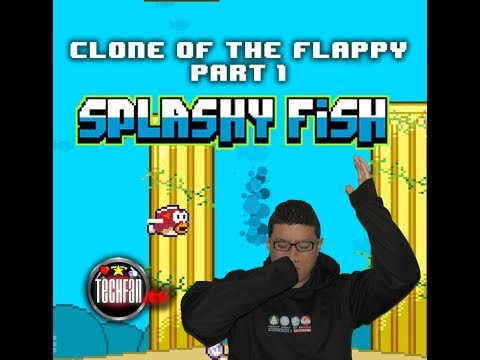 Splashy Fish: Adventures Of A Tiny Bird Fish (iPhone Gameplay) - Clone Of The Flappy Part 1