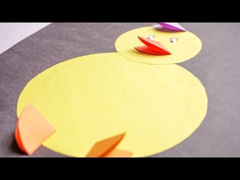 Kids Crafts | Easy Paper Animal for Kids  Baby Chicks | CraftiKids #1