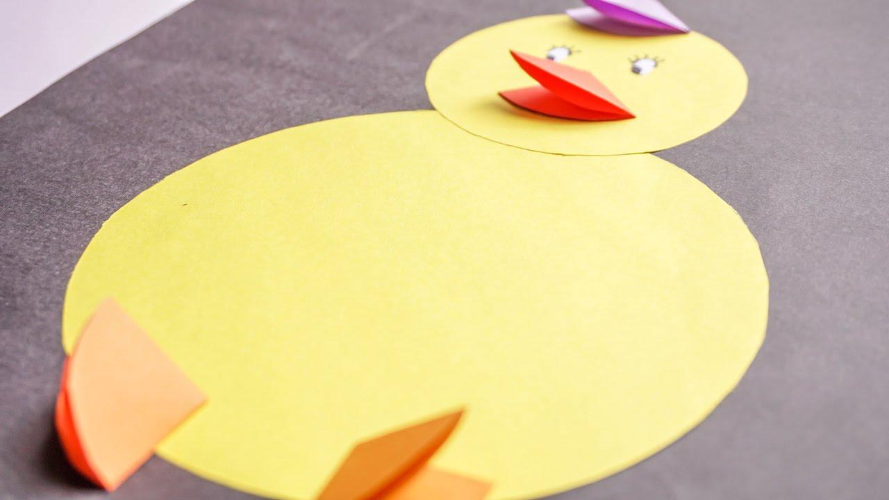 Kids Crafts Easy Paper Animal For Kids Baby Chicks Craftikids