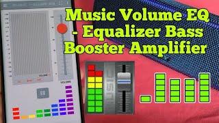 Music Volume EQ Equalizer Bass Booster Amplifier App - how good is this App ? Get more Bass screenshot 1