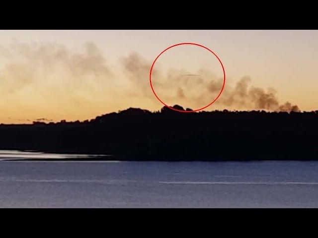 Una mujer graba un sorprendente OVNI sobre un lago en Australia