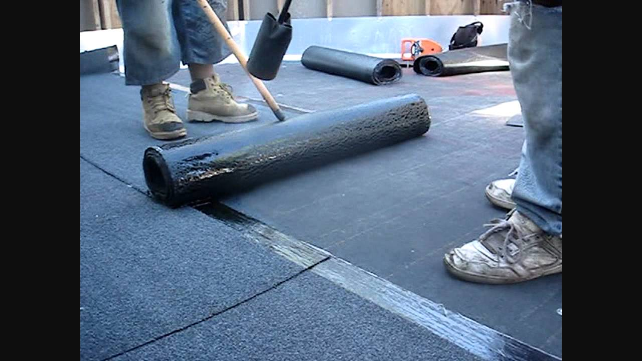 Awesome Bitumen Torch Down Roof   4th Floor Garden Parapet Roof   YouTube