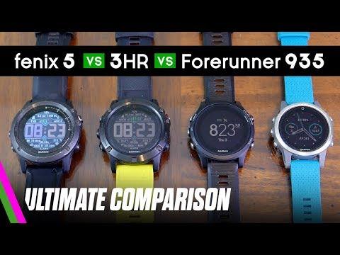 Forerunner 935, Fenix 5X/5S, 3HR ULTIMATE Comparison // Best Activity Tracker 2017