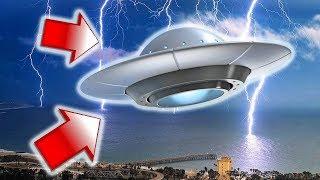 НЛО засняли во время грозы - реальная съемка 2017 HD (UFO)