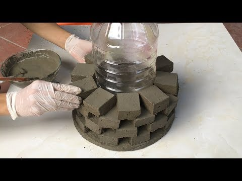 Project Cement at home Easy | Build flower pots craft Impressive | Ideas Creative garden design