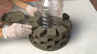 Project Cement at home Easy | Build flower pots craft Impressive | Ideas Creative garden design
