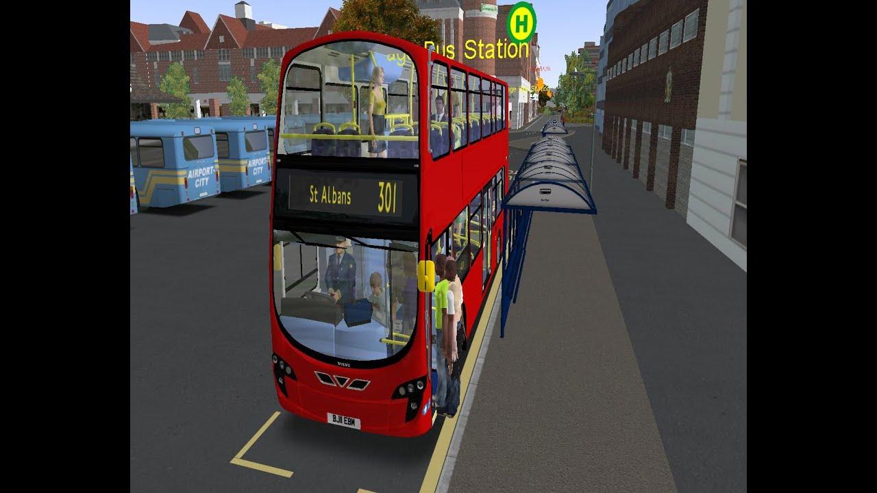 OMSI 2 Hertfordshire V4 RHD : Route 301 Stevenage Bus Station - St Albans  by J Zen