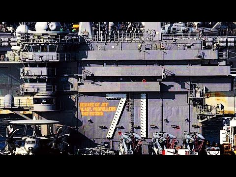 Rare look INSIDE THE BRIDGE of SUPERCARRIER USS Theodore Roosevelt during HUGE EXERCISE!
