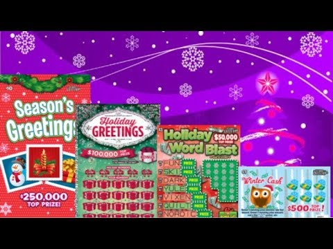 Almost All The Christmas Tickets From The Texas Lottery! 🎄🎅