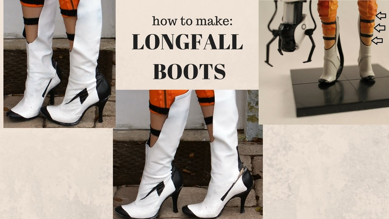 How To Make The Long Fall Boots From Portal Cosplay Chell Amethyst S Corner