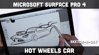 Microsoft Surface Pro 4: Sketching a hotwheels style car