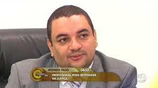 Reportagem sobre atestado médico falso - TV A Crítica