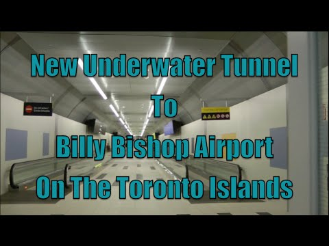 New Underwater Tunnel To Toronto's Island Airport - Billy Bishop Airport