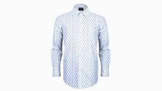 코튠(COTTUNE) 블루화장실 패턴 남자셔츠/남성셔츠…