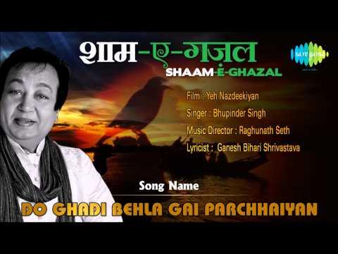 Do Ghadi Behla Gai Parchhaiyan | Shaam-E-Ghazal | Yeh Nazdeekiyan | Bhupinder Singh