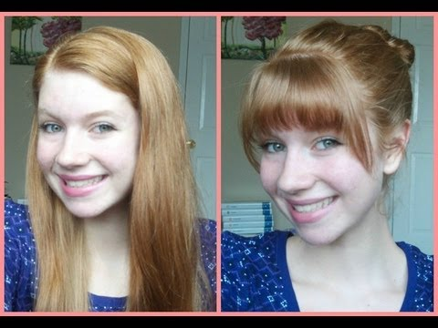 How To Cut Your Own Bangs Fringe At Home Youtube