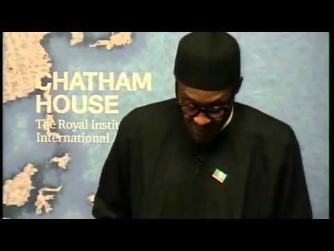General Muhammudu Buhari at the Chatam House ( entire speech plus question and answer session)
