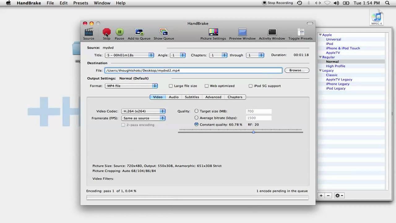 How to a rip a DVD (Mac)