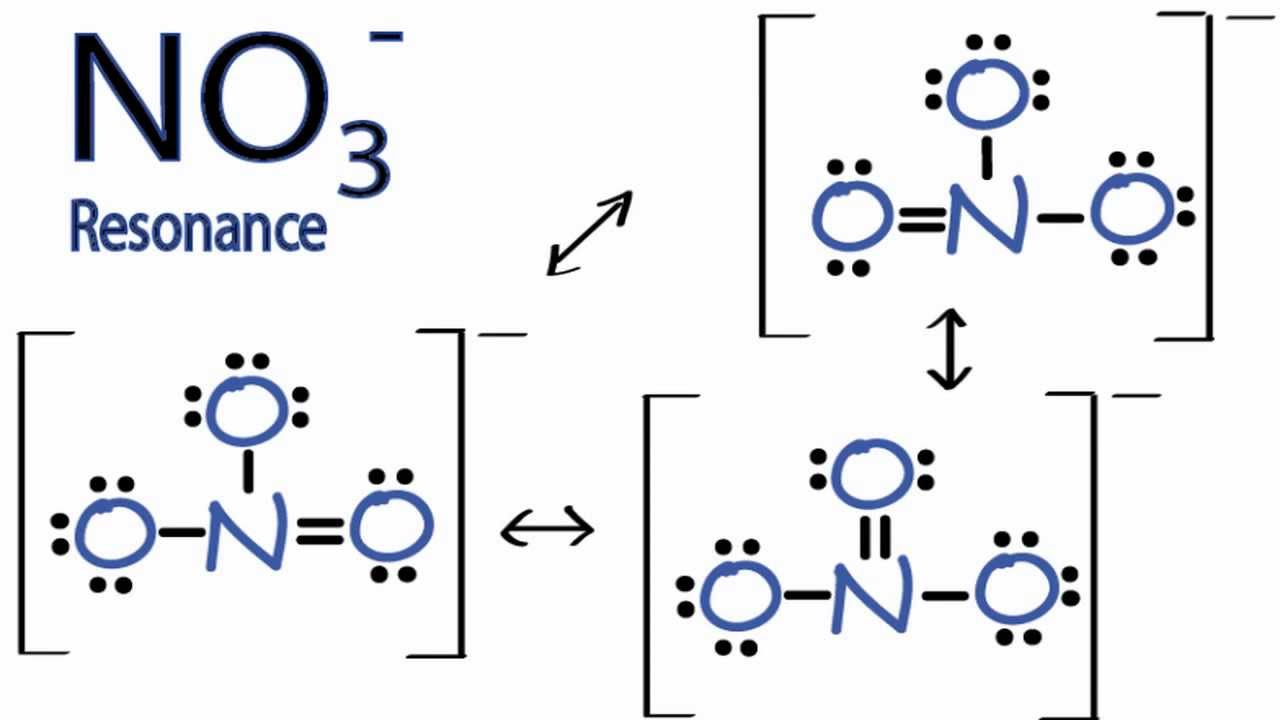 medium resolution of resonance structures for no3 nitrate ion youtube ash3 lewis dot lewis diagram no3