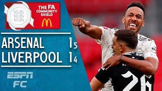 Aubameyang stars as Arsenal beat Liverpool on penalties to win FA Community Shield | ESPN FC