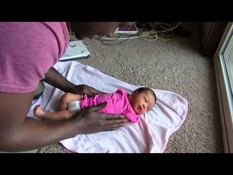 Daddy's African Style(?) Infant Massage
