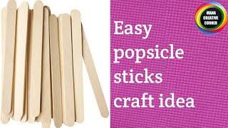 Easy#popsicle sticks craft idea#DIY room decor idea using popsicle sticks#icecream sticks ctaft#