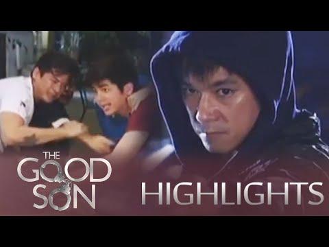 The Good Son: Dado fires gun at Joseph's house.