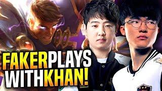 Faker Insane Jayce Game ft Khan! - SKT T1 Faker Jayce ft SKT T1 Khan Camille! | SKT T1 Replays