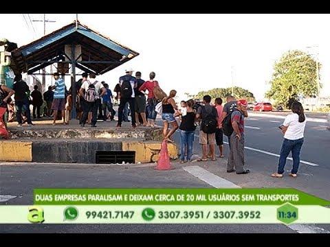 Duas empresas paralisam e deixam cerca de 20 mil usuários sem transportes em Manaus