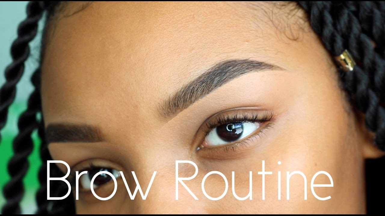How To Do Your Eyebrows 2017 Eyebrow Routine Nyx Flawhs Youtube