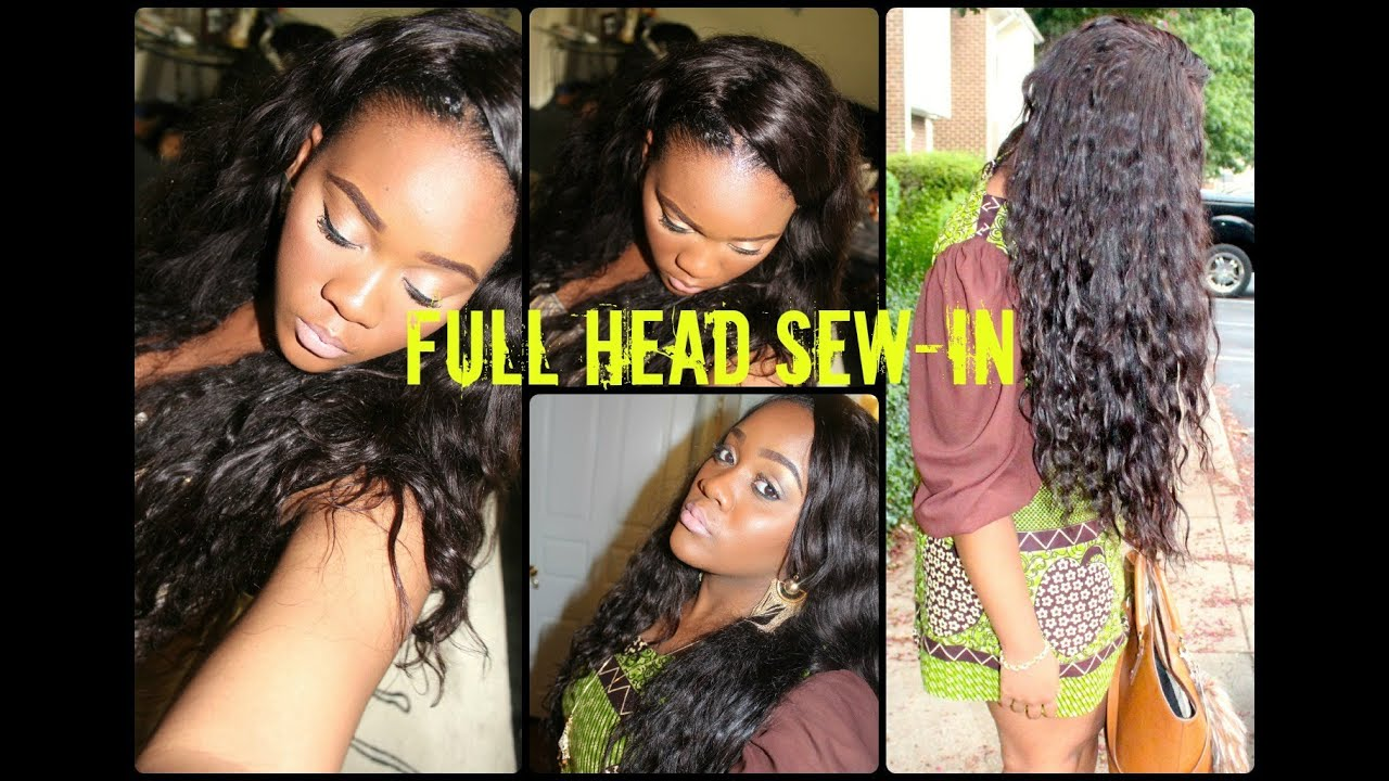 Sew in weave hairstyles with hair left out
