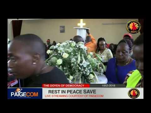 Morgan Tsvangirai Mabelreign Methodist Church Funeral Service