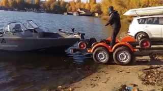 Трейлер для перевозки лодок, произведен в Украине по голландскому патенту