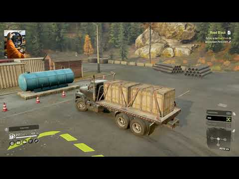 Road Block | Episode 6 black river, Michigan | SNOWRUNNER Premium (All DLCs) | Logitech G29 | |