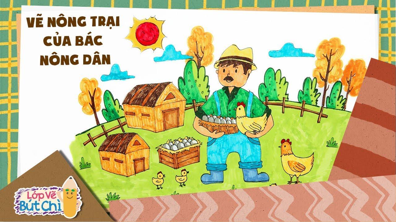 Vẽ Nông Trại Bác Nông Dân | Lớp Vẽ Bút Chì | Hi Pencil Studio
