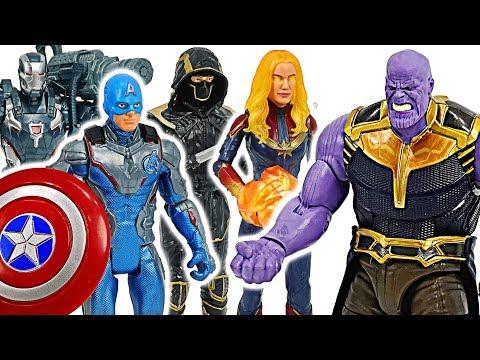 Avengers End Game Captain America & Captain Marvel Power up VS Thanos #DuDuPopTOY |