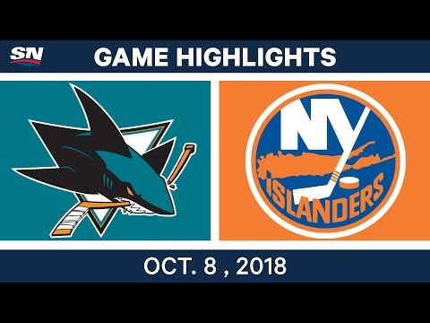 NHL Highlights | Sharks vs. Islanders - Oct. 08, 2018