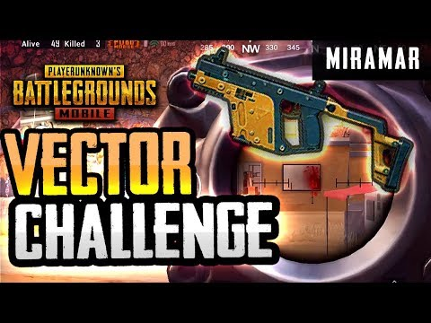VECTOR ONLY CHALLENGE... on MIRAMAR (PUBG Mobile)